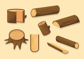 Vettore di tronchi di legno