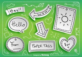 Tag di carta vettoriale con messaggi