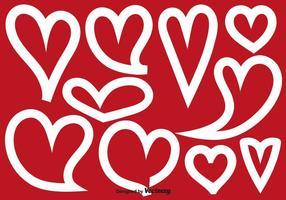 Forme di cuore astratto vettoriale