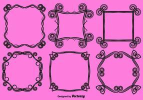vector cornici d'amore ornamentali