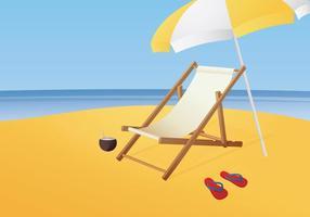 Illustrazione libera del vettore della sedia di spiaggia