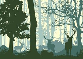 Vettore verde della priorità bassa della foresta