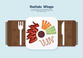 vettore di ali di bufalo