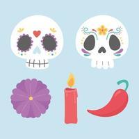 set di icone del giorno dei morti
