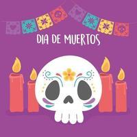 celebrazione del giorno dei morti con teschio di zucchero