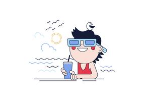 Beach Day Vector gratuito