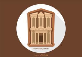Tesoro vettoriale gratuito a Petra