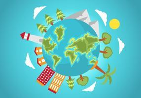 Illustrazione vettoriale di globo gratis