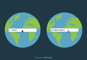 Design vettoriale gratuito di barra degli indirizzi Web