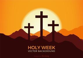 Sfondo vettoriale di settimana santa gratis