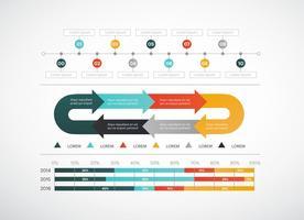 Elementi di vettore di infografica