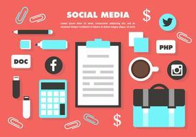 Elementi vettoriali gratis Social Media