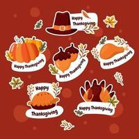 collezione di adesivi di ringraziamento