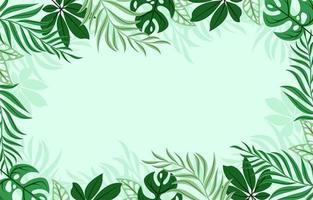 sfondo di foglie verdi tropicali vettore