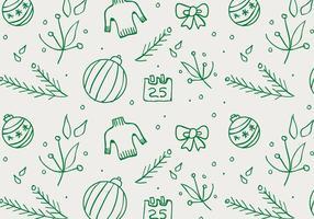 Fondo disegnato a mano modello di Natale vettore