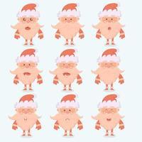 personaggi dei cartoni animati di Babbo Natale con emozioni