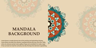 mandala art design backgroud vettore