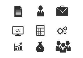 Icone di vettore di affari e di marketing