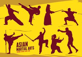 Arti marziali asiatiche vettore