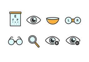 Icone vettoriali gratis occhi