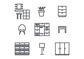 Set di icone di spogliatoio vettore
