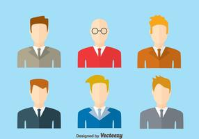 Vettore di Headshot dell'uomo d'affari