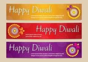 vettori di banner di diwali brillanti