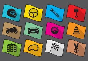 Icone della corsa piatta