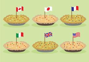 Vettori di torta di mele del paese