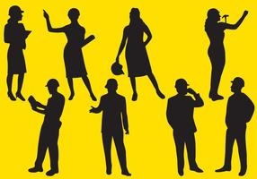 Sagome di lavoratore uomo e donna