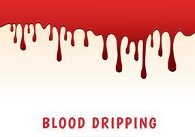 Sangue che gocciola vettore