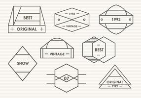 Set di Modern Trendy Blason Vector