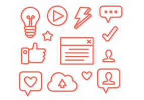 Vettore delle icone di blogging