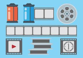 Vettore libero delle icone della scatola metallica del film