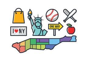Icone di New York vettore
