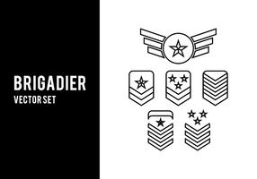 set vettoriale di brigadiere