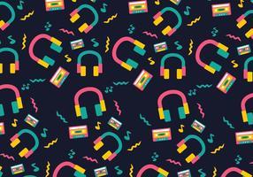 Neon Funky Head Telefono sfondo vettore
