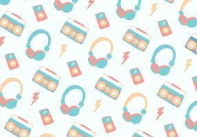 Priorità bassa del telefono testa musica pastello vettore