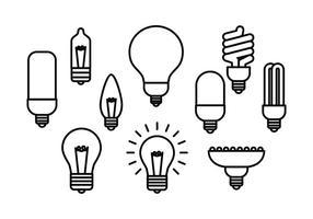 Vettore dell'icona della lampadina linea