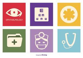 raccolta di icone vettoriali di optometria