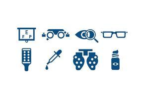 Icone degli strumenti per la cura degli occhi