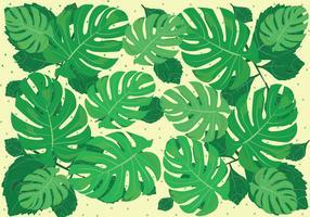 La giungla verde lascia la priorità bassa vettore