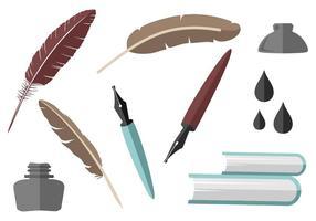 Vettore gratuito di raccolta elemento di scrittura