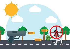 Shooting Thief Vector Background