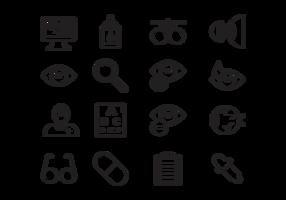 vettore delle icone dell'occhio medico