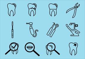 Pacchetto dentale di vettore dell'icona