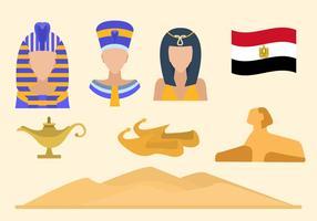 Vettori di Egitto piatto
