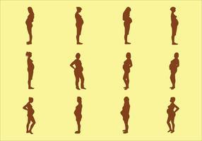 Silhouette donna incinta vettore
