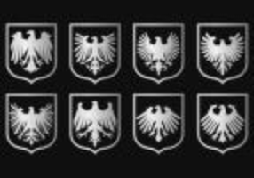 Vettori di simbolo della guarnizione dell'aquila