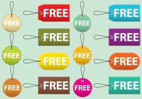 Etichette gratuite e cartellini vettore